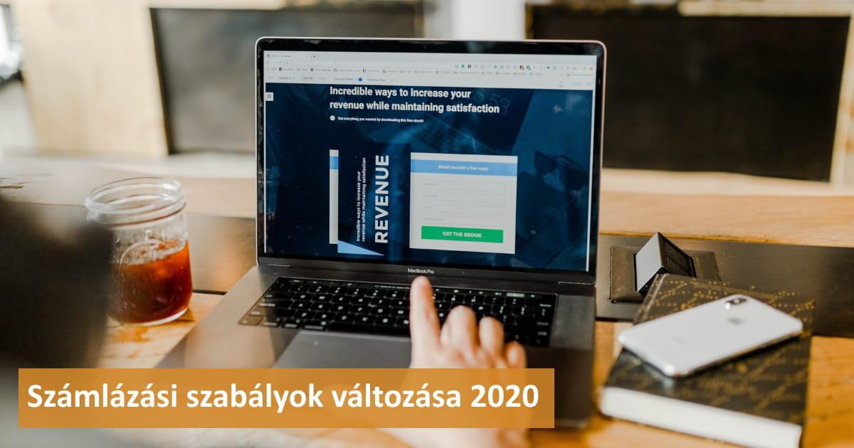 Számlázási szabályok 2020